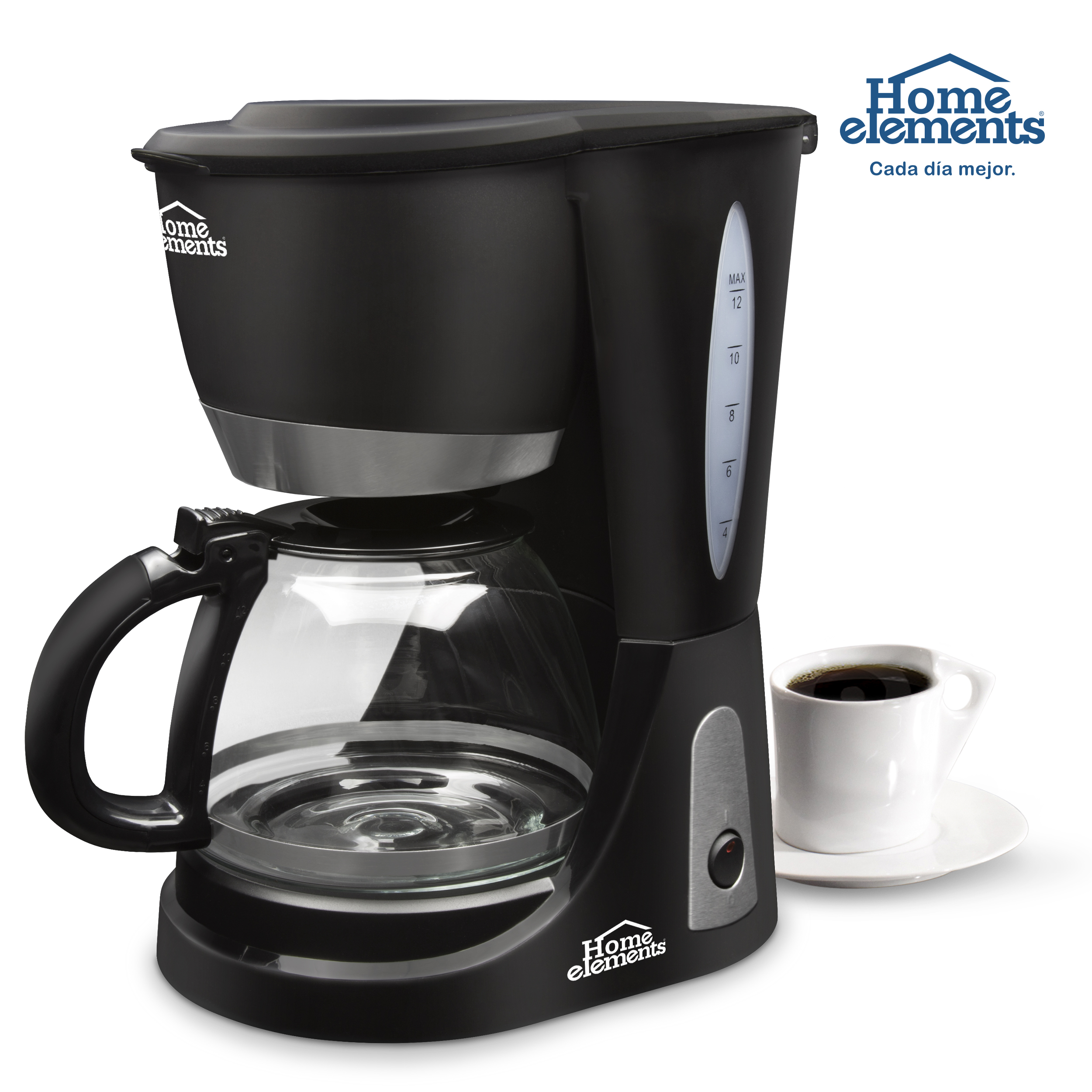 Cafetera Electrica 12 Tazas Mod He 7031 A Home Elements